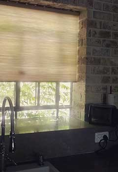 Kitchen Faux Wood Blinds For Home In Los Altos